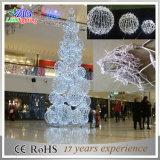 Luzes ao ar livre decorativas da árvore da esfera do Natal do diodo emissor de luz da decoração de CE&RoHS