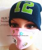 Женщины вышили шлемам связанным лицевым щитком гермошлема