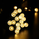 Warme Witte G10 16.3FT G10 facetteerde de 50 LEIDENE Lichten van Kerstmis