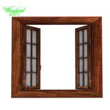 La norma europea CE Certificado de vidrio aislante de doble ventana de madera aluminio