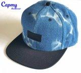 Vintage джинсовой материала Snapback Red Hat с поставщиком