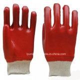 Неровной поверхности с покрытием из ПВХ безопасности рабочие перчатки