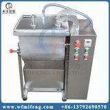 Misturador dobro do processamento de carne do eixo do vácuo