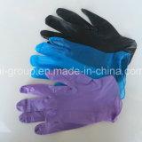 Schwarze Vinylwegwerfhandschuhe für Schönheit, BADEKURORT und Nagel-Lieferanten