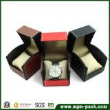 Doos van het Horloge van het Leer van de douane de Ontwerp Gestikte Plastic Pu