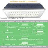Indicatore luminoso solare esterno impermeabile del giardino della parete del sensore di movimento di lumen 46 LED PIR della lega di alluminio 1100
