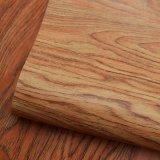 Couro malogrado impresso do saco do PVC da grão da árvore textura de madeira natural