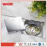 Quadratischer Dusche-Fußboden-Abfluss mit Fliese-Einlage-Gitter-Badezimmer-Befestigungen mit preiswertem Preis