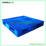 Skid azul Face Única para a armazenagem de paletes de plástico durável