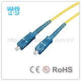 Sc del certificato di Ce/UL al ponticello di fibra ottica monomodale dello Sc