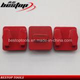 Redi Lock System Double Coffin Segment Diamante Moagem Metal Pad