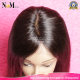 Peluca india de calidad 7A trenzado del cordón lleno con el pelo del bebé 8-30 pulgadas por encargo pelucas de cabello humano