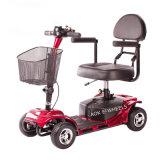 Scooter électrique 4 roues sécurisé pour handicapés et personnes âgées avec siège confortable (MS-012)