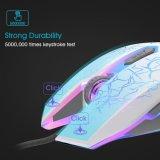 6 botones del Mouse juegos de luz LED de la respiración (M-65)