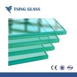 Le verre trempé clair avec écran de soie/bords polis/ pour la construction