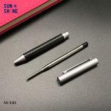 De verkopende Pen van de Vezel van de Koolstof van de Pen van het Metaal van de Gift van de Luxe Slanke