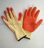 Перчатки безопасности строительной работы Crinkle латекса