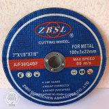 Roue de coupe abrasive pour le métal et l'acier