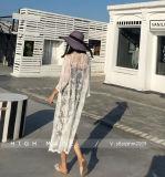 Lange Hülse Schulter-weg Blusen-Rückseiten-Spitze höhlen heraus Bluse für Frauen-Ausstattungs-Abnützung aus