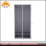Jas-024は鋼鉄鉄がロッカーのワードローブのキャビネットに着せる2つのドアの金属を卸し売りする