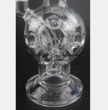 Transparentes Glas bespritzt Wiederanlauf-Filter mit einem Schlauch
