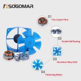 ventilatore assiale di raffreddamento blu a tre fasi di CA delle pale di plastica di ventilazione 380V (SF16060)
