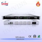 Tête de réseau d'entrée RF de la télévision numérique (avec démodulation de la passerelle IP-multiplexage-scrambling)