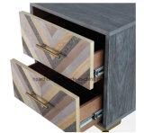 Reticolo Herringbone della mobilia dei Due-Cassetti fini di disegno sui cassetti Nightstand