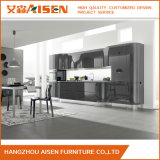 Schwarze Farben-hoher Glanz-Ende-moderner Entwurfs-Lack-Küche-Schrank