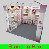 Erstklassiger beweglicher mehrfachverwendbarer Fahnen-Standplatztradeshow-Konferenz-Stand