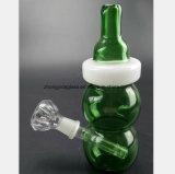 Frasco preto, verde do cachimbo de água de vidro 6.7 polegadas