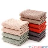 De grijze Super Absorberende Katoenen Handdoek van de Honingraat
