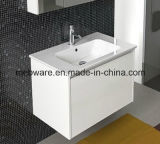 Module de salle de bains simple de PVC de modèle neuf avec le lavabo