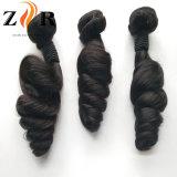 El Color Natural sin procesar dibujado Brizilian Natural Secador de cabello humano trama