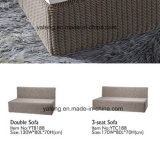 Кровать софы Lliving мебели популярного нового ротанга просто конструкции круглого напольная (YT188) с двойной софой &3seat