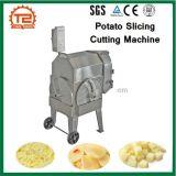 Los tubérculos y frutas de la máquina de corte para cortar en rodajas de patata