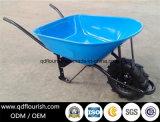 Carrinho de mão de roda de borracha do Wheelbarrow do trole do carro do transporte Wb6681