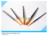 5PCS Wooden Handle Nylon Hair Artist Brush in pvc Bag voor Painting en Drawing (kleur Blue)