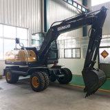 Dn75-8 Ginuo nueva excavadora de ruedas baratas con tenazas