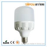 5/10/15/20/30 / 40W E27 Alumínio e plástico LED de alta qualidade em forma de T