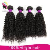 卸し売り7A人間のバージンの毛のねじれた巻き毛のRemyの毛は作り出す