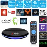 Hot Sale Home Cinéma JE96 Android 7.1.2 Smart TV Box S905X Quad Core 1 Go de RAM/ROM 8 Go avec 4K HD 1080p, WiFi Media Player