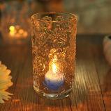 Supporto di candela di vetro del cilindro alto