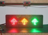 Semaforo verde rosso personalizzato del segnale della freccia di colore giallo LED di 100mm