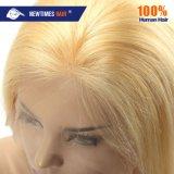 En stock pour expédition immédiate 100% Remy cheveu blond droites naturel face Full Lace Wig pour dame