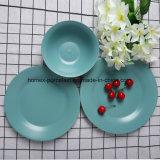 L'ouest de couleur vert jaune populaire jeu de la vaisselle en porcelaine