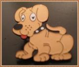 Emblema raro do aço inoxidável do cão de Scotty do aço inoxidável de curvatura de correia de Scotty Cameron (emblema do carro)