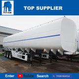 Tri acoplados de gasolina y aceite del petrolero de Cbm del tanque de almacenaje de petróleo de palma del árbol del titán 45 para la venta