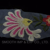 tessuto multicolore del merletto della guipure del ricamo del Crochet del fiore dei testi fissi di modo 3D