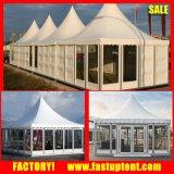 le Gazebo d'été de tente de pagoda de PVC de Chinois de 5X5m avec drape